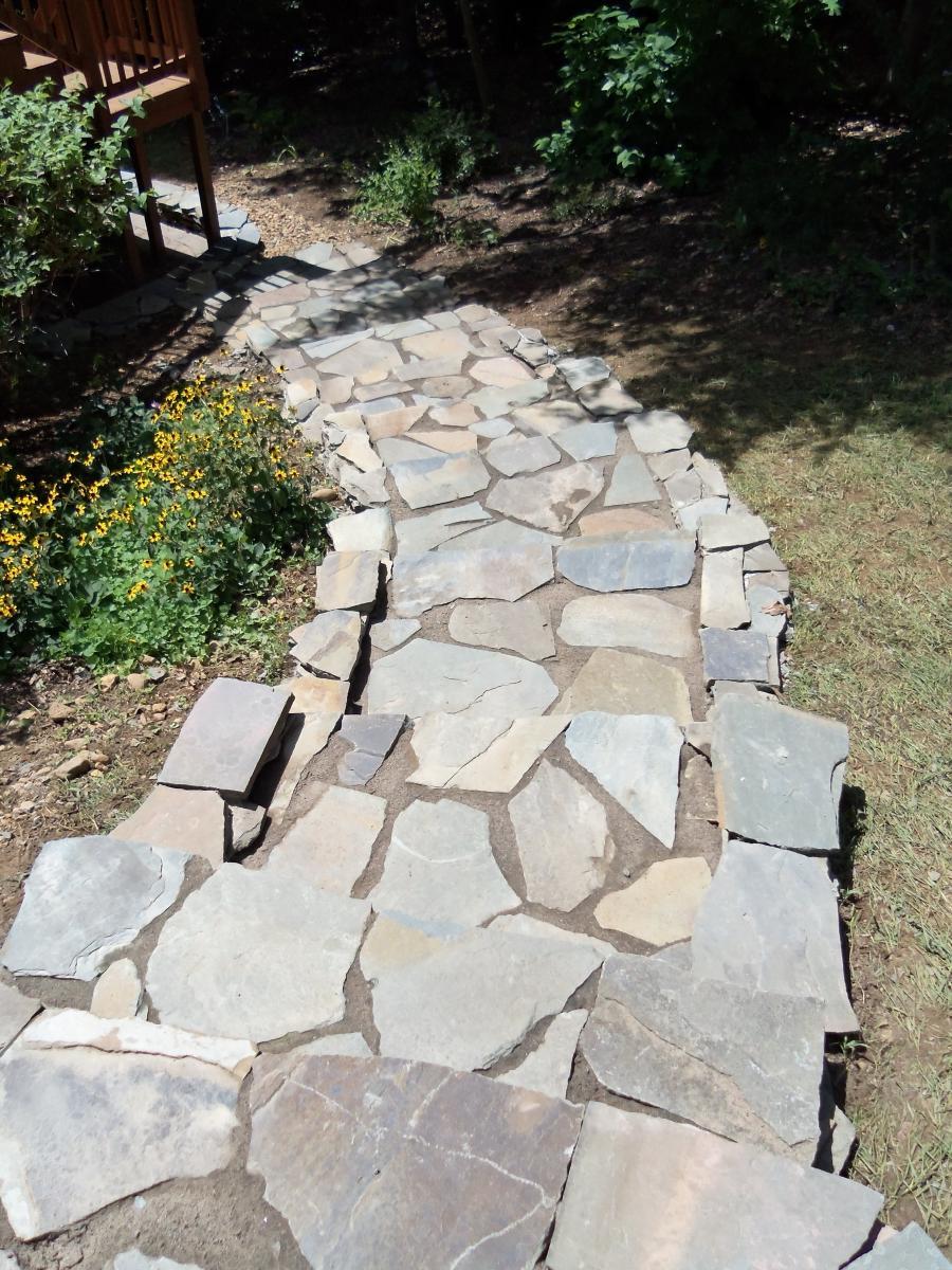 Landscaping Stone Fredericksburg Va : Stone walkway fredericksburg va landscaping