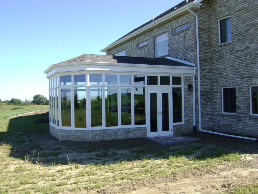 Glass sunroom addition photos for Glass house additions