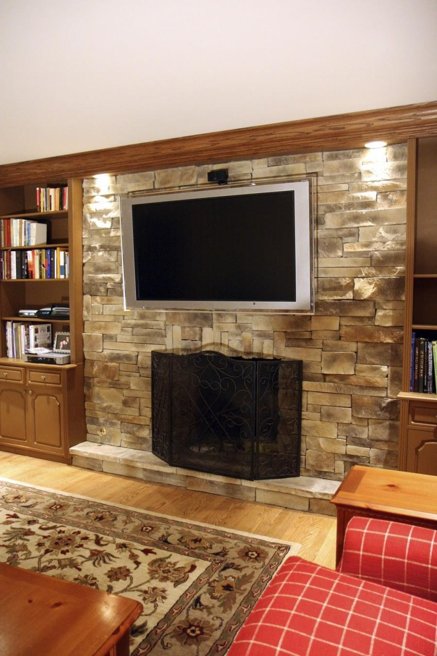 North Star Stone Stone Fireplaces Stone Exteriors: Raised Hearth Fireplaces Photos