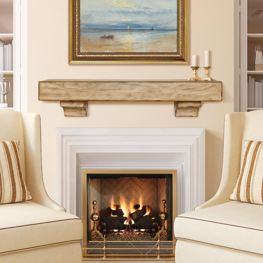 Photo fireplace with mantel shelf for Building an indoor fireplace