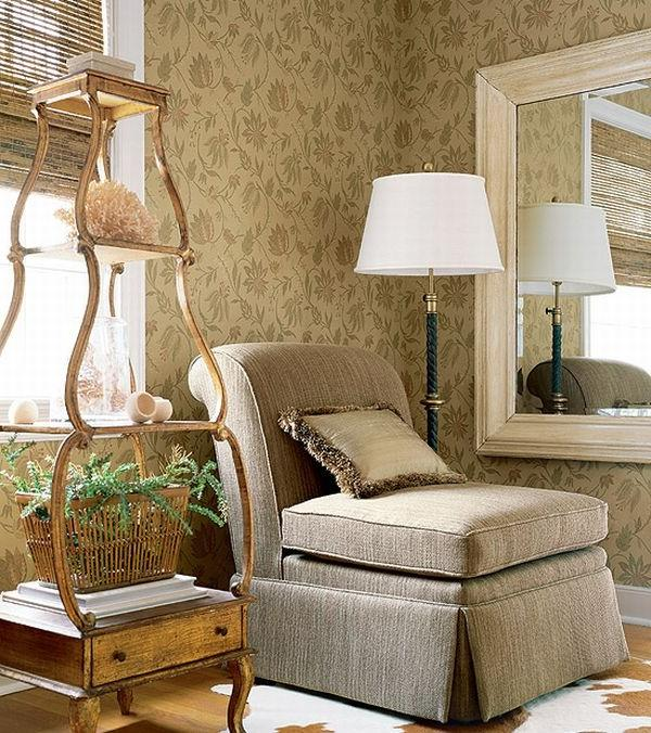 A cozy reading corner with a beautifully-displayed antique piece