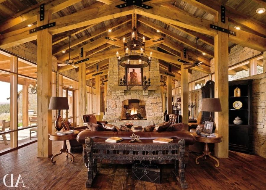 Rustic great room photos