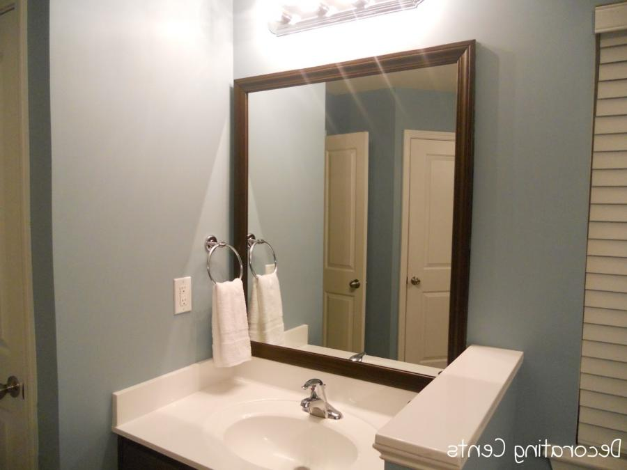 bathroom mirrors with lights attached alluring bathroom mirrors