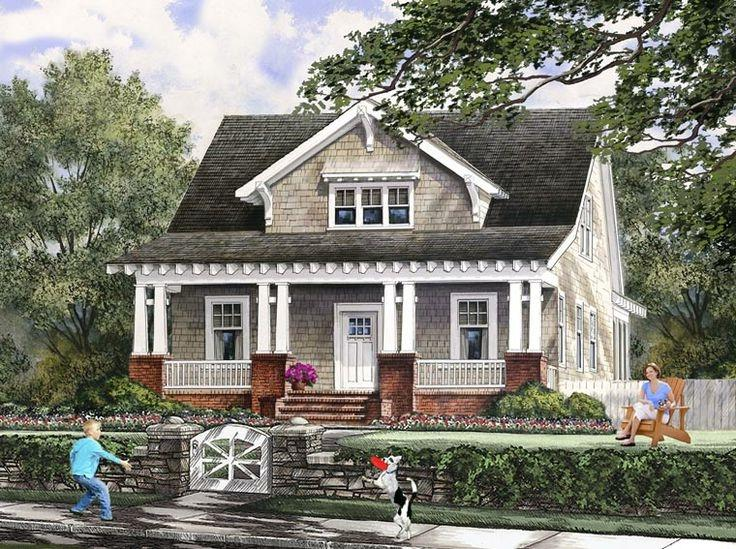 Craftsman bungalow house plans with photos for Farmhouse bungalow house plans