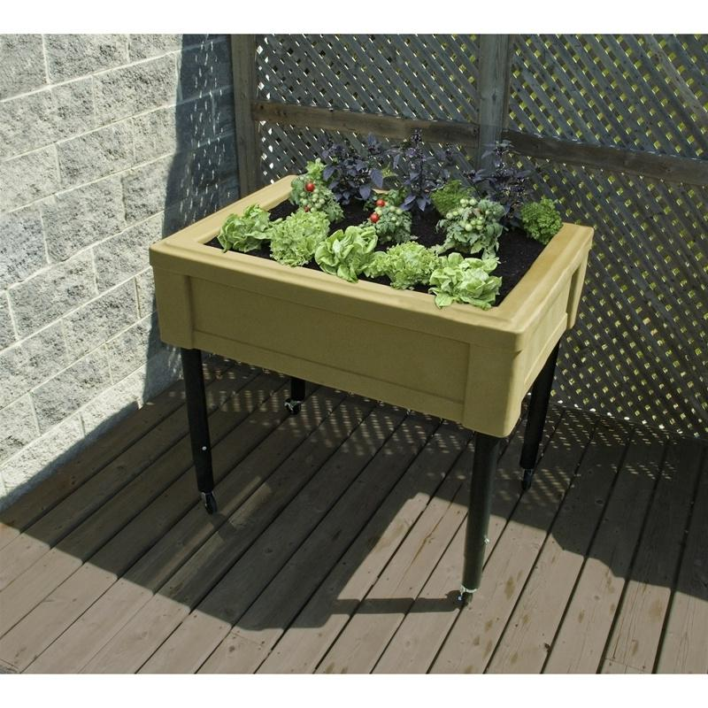 Raised garden tables photos