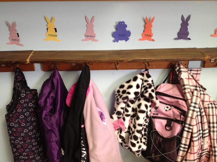 Each child at CCNS has a coat hook and cubby labeled with his or...