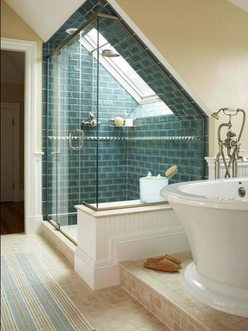 bathroom u2013 good idea for my converted attic bath Brooke...