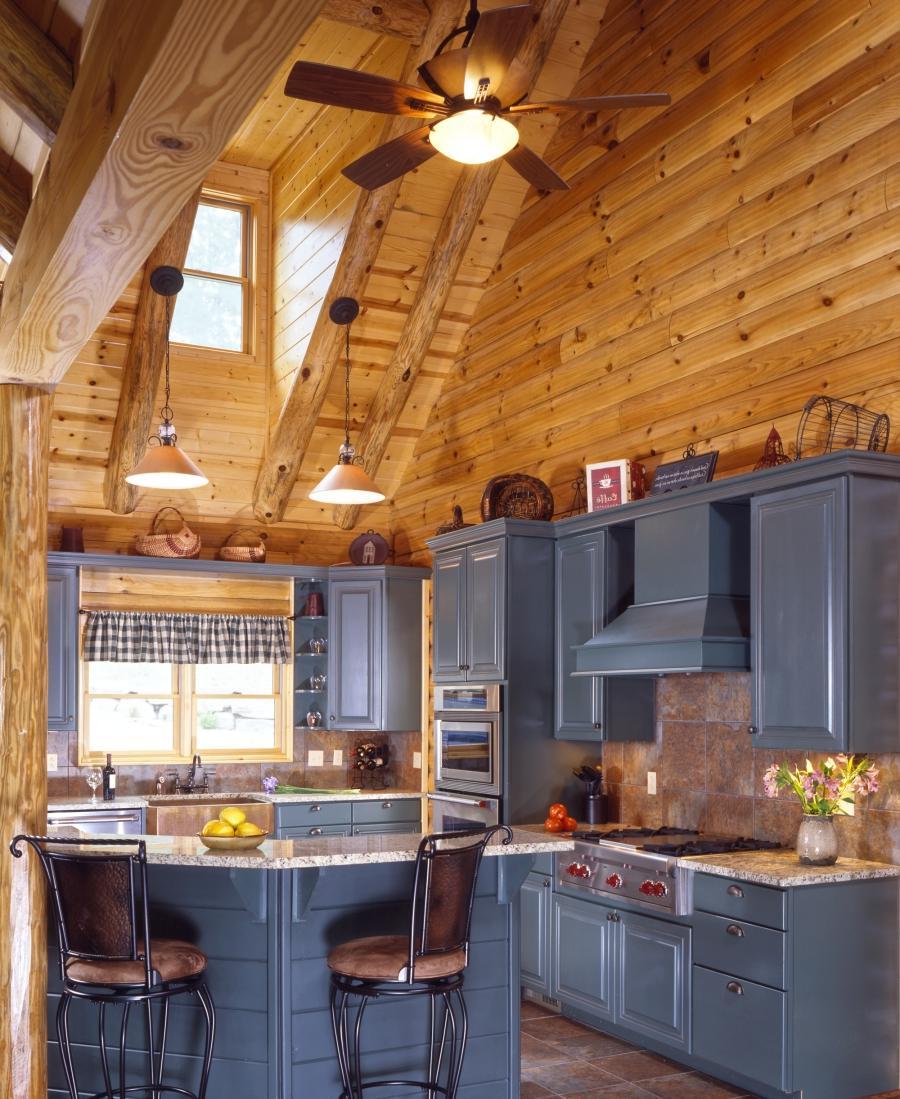 Cabin Kitchen Cabinets: Cabin Kitchen Log Photo