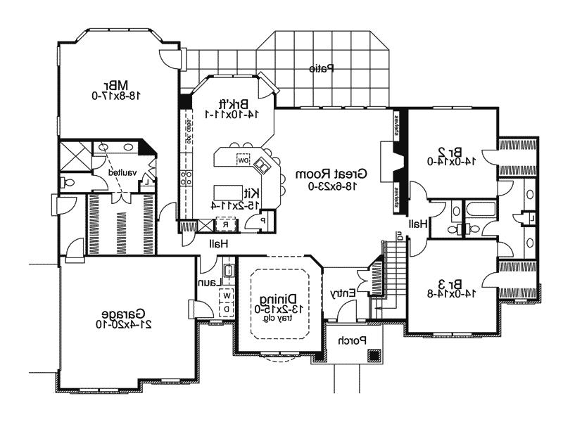 Traditional House Plan First Floor - 007D-0117 | House Plans and...