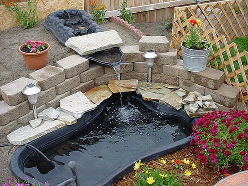 Photos of how to build a garden pond for Diy pond liner ideas