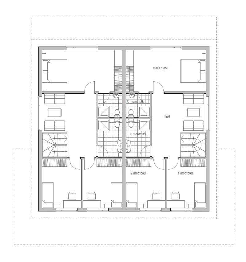 Photo House Plan Duplex