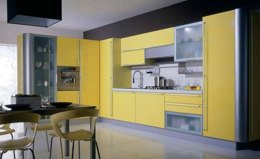 Decorating gallery photos of yellow wall kitchen for Casual kitchen design ideas