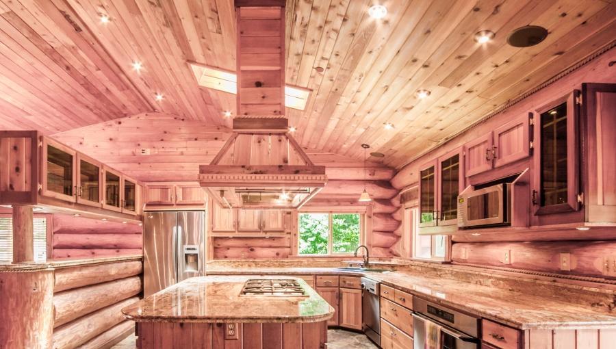 Log Home Kitchens Real Log Style Source