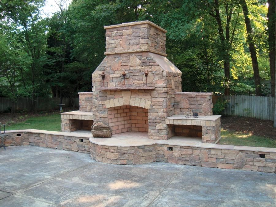 92 outdoor stone fireplaces