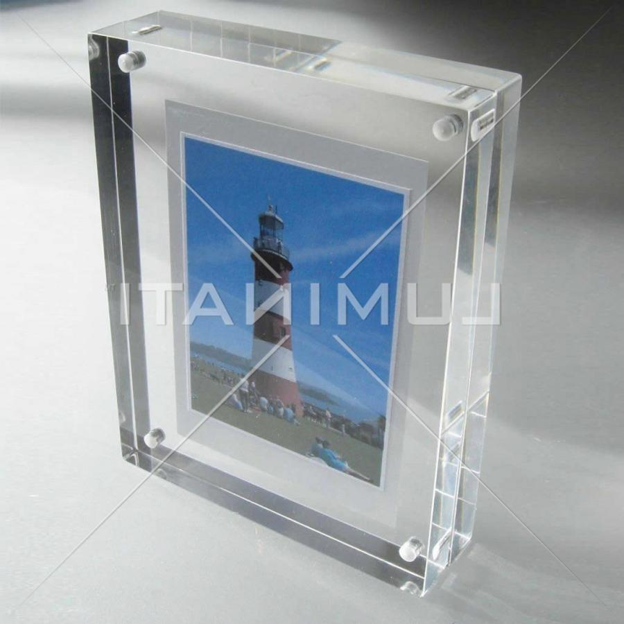 Glass block magnetic photo frame for Glass block window frame