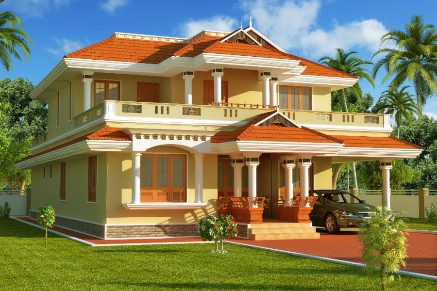 South indian house plans with photos exterior for Exterior house designs indian style