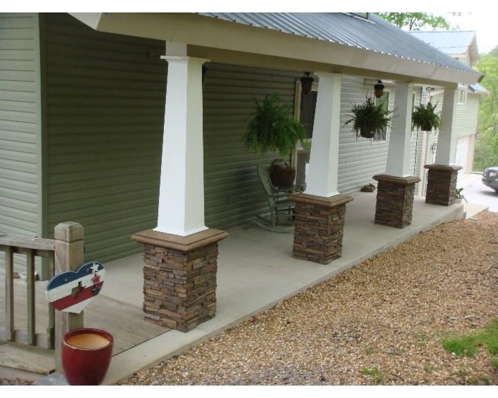 Faux Stone Porch Columns : Stone columns photos