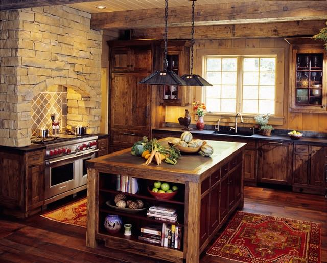 Mountain Cabin traditional-kitchen