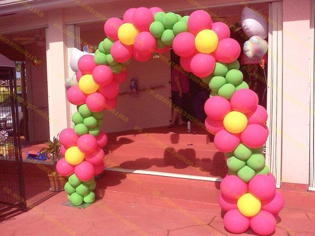 Photos balloon arch for Balloon arch frame kit party balloons decoration