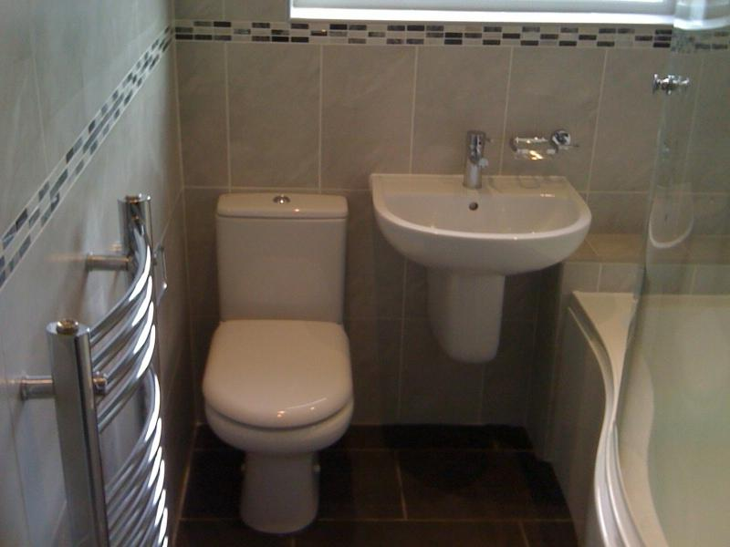 Ideal solution for a small bathroom. Semi pedestal basin and...