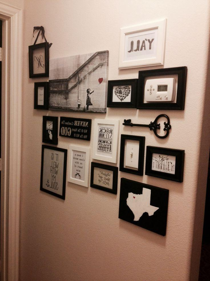 Collage wall for end of hallway