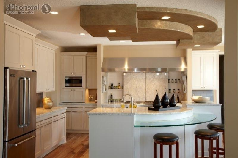 Semicircular bar in the kitchen decoration kitchen ceiling...