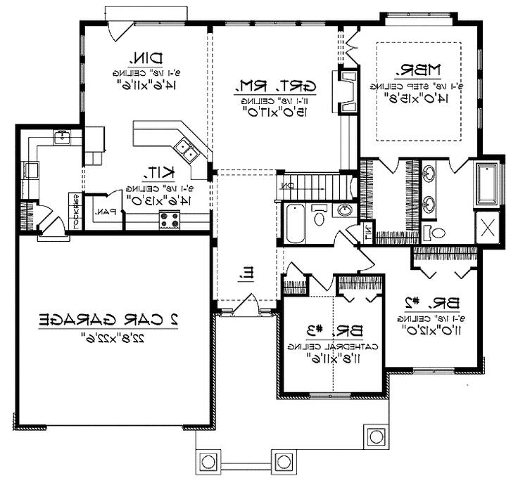 Open concept house plans with photos for Open concept home plans