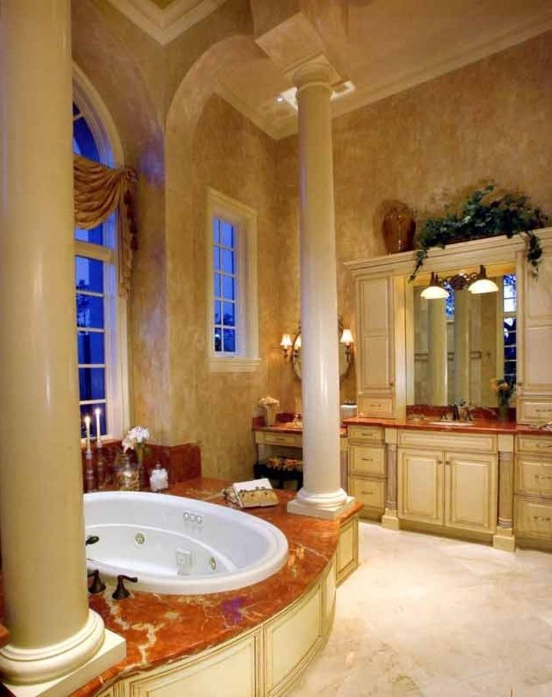 Photos tuscany bathrooms for Tuscan style bathroom designs