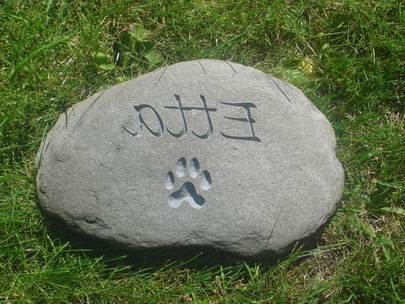 Photo Memorial Garden Stone