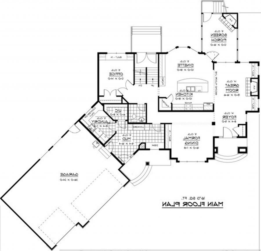 Open concept house plans with photos for Traditional open floor plans