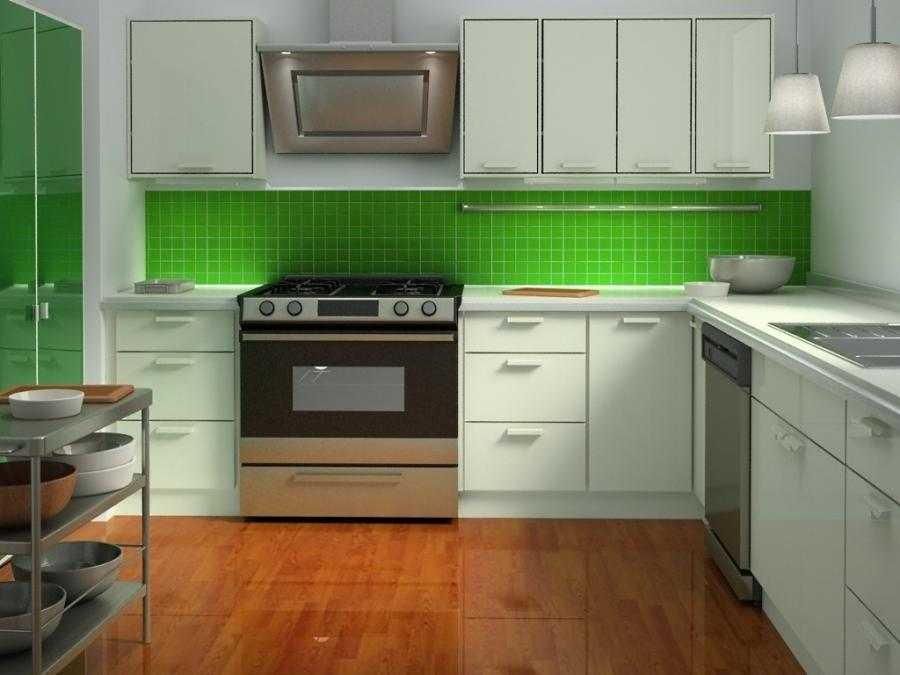 Green Kitchen Cabinet And Idea Ideas Images Of Picture