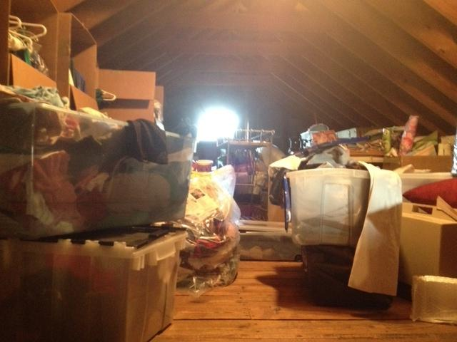 Welcome to my attic! Maternity clothes, formal dresses ranging...