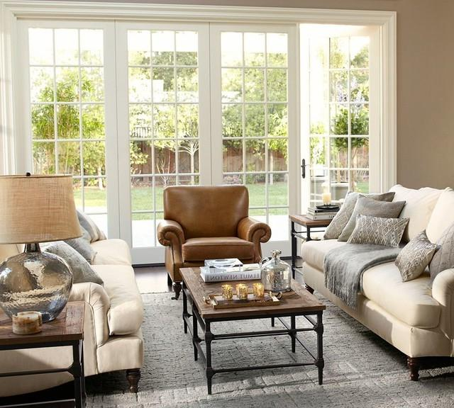 pottery barn living rooms photos