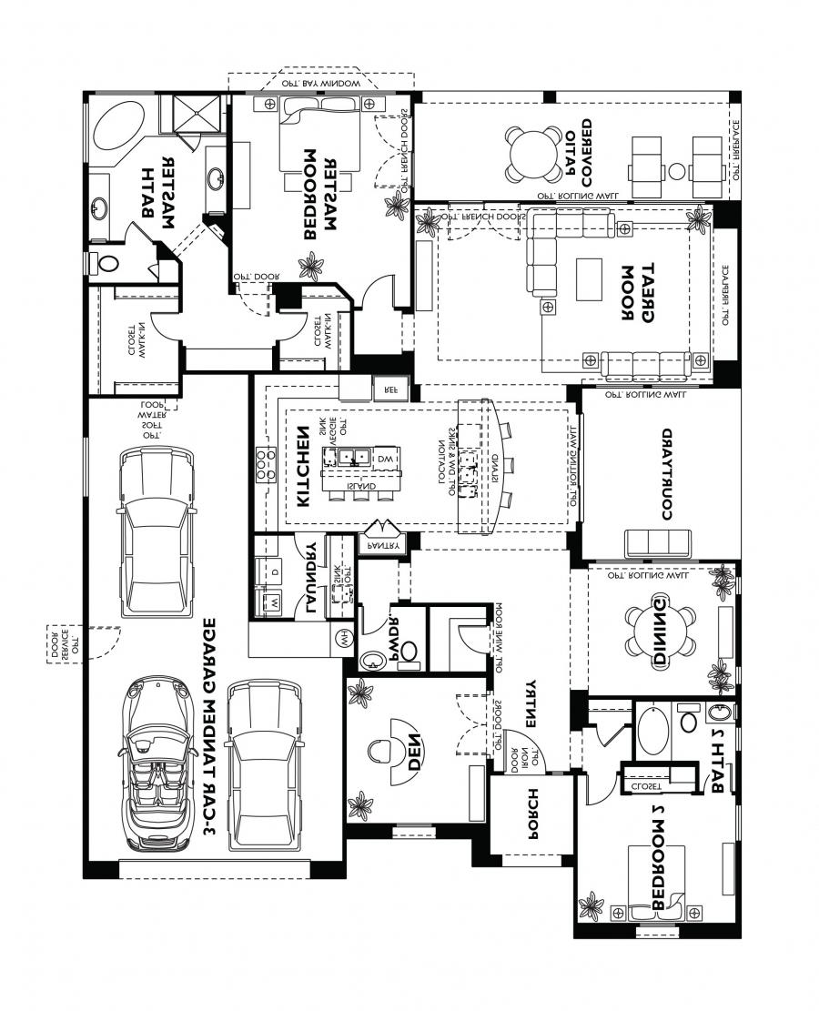 Home floor plans with photos for Shea custom home plans