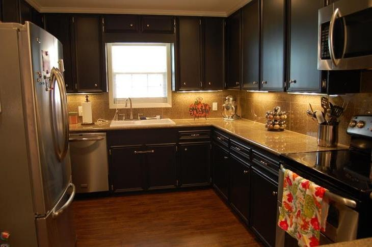 Painted Black Kitchen Cabinets Design