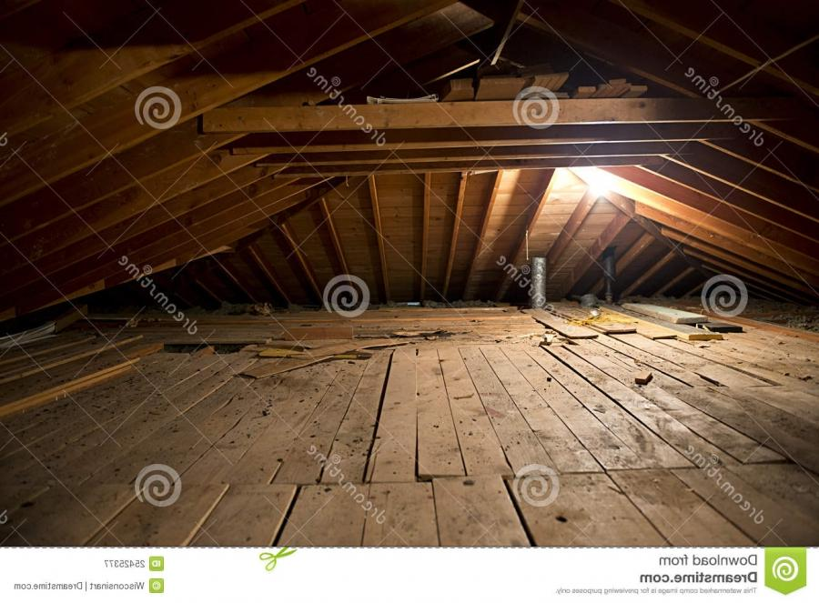 Dark Old Dirty Musty Attic Space in House or Home