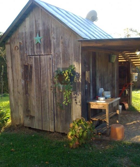 Photos of rustic garden sheds