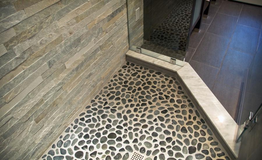Rock tiles for floor