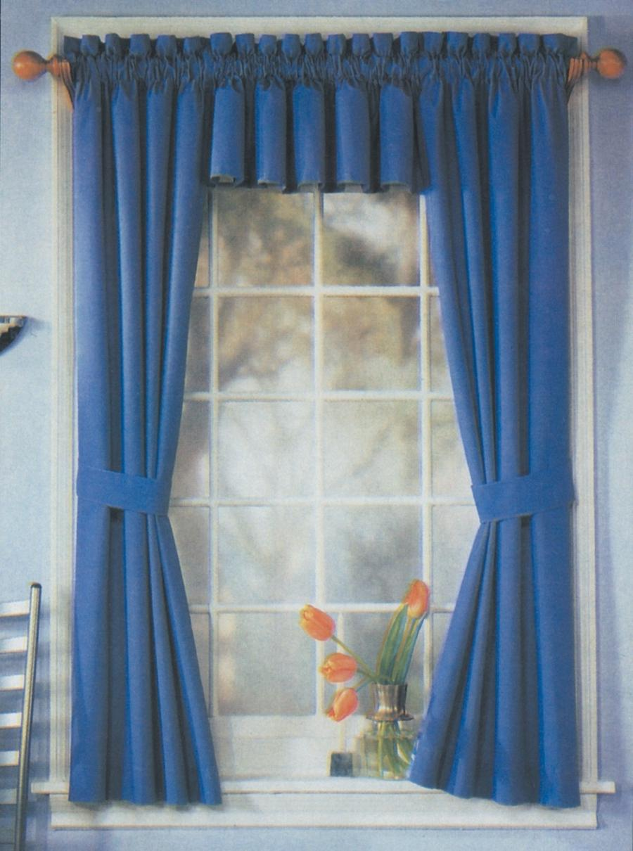 ... Beautiful Blue Curtain for Making Cool and Relax Atmosphere :...
