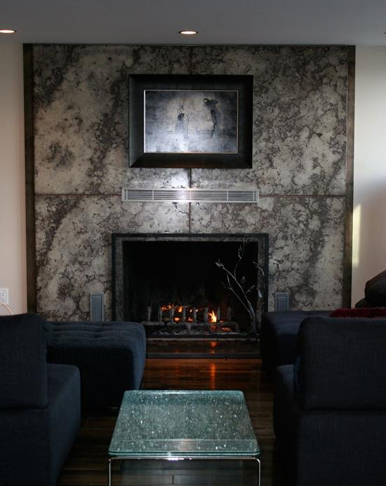 Fireplace surround photo for Concrete mantels and hearths