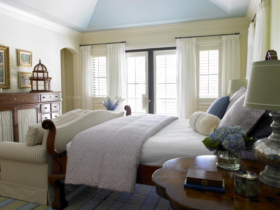 Romantic French Country Designed Master Bedroom of Delray Beach |...