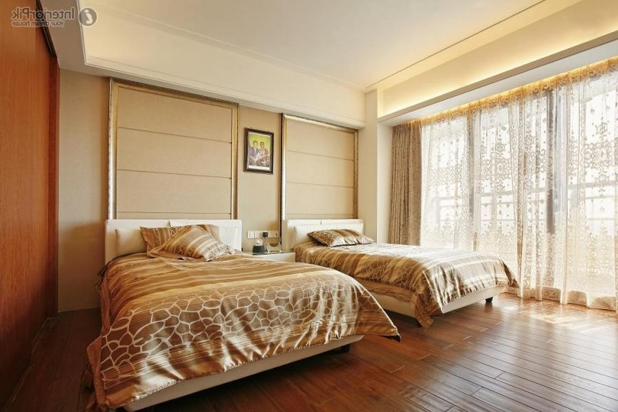 large bedroom curtains decoration effect picture Minimalist...