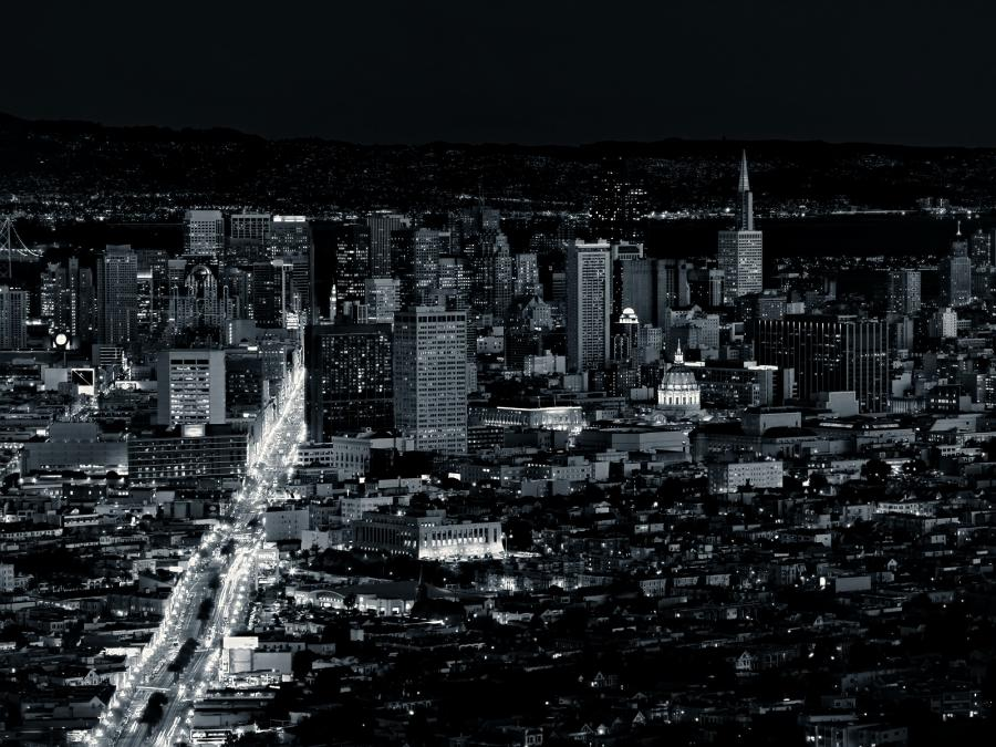 Black and White San Francisco Skyline wallpaper. Tough choice on...