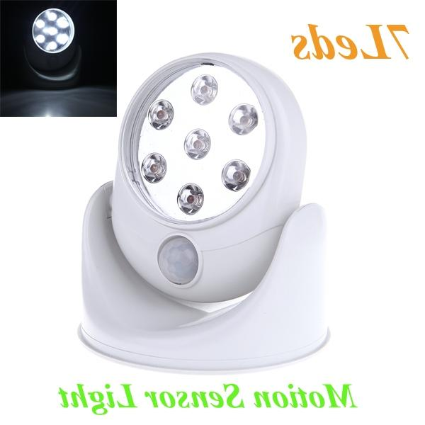Wall Lamps 360 Degree White 7 LEDS Porch Lights Rotation Light 6V...