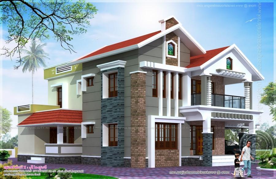 House plans with photos in dubai for Indian villa designs exterior photos