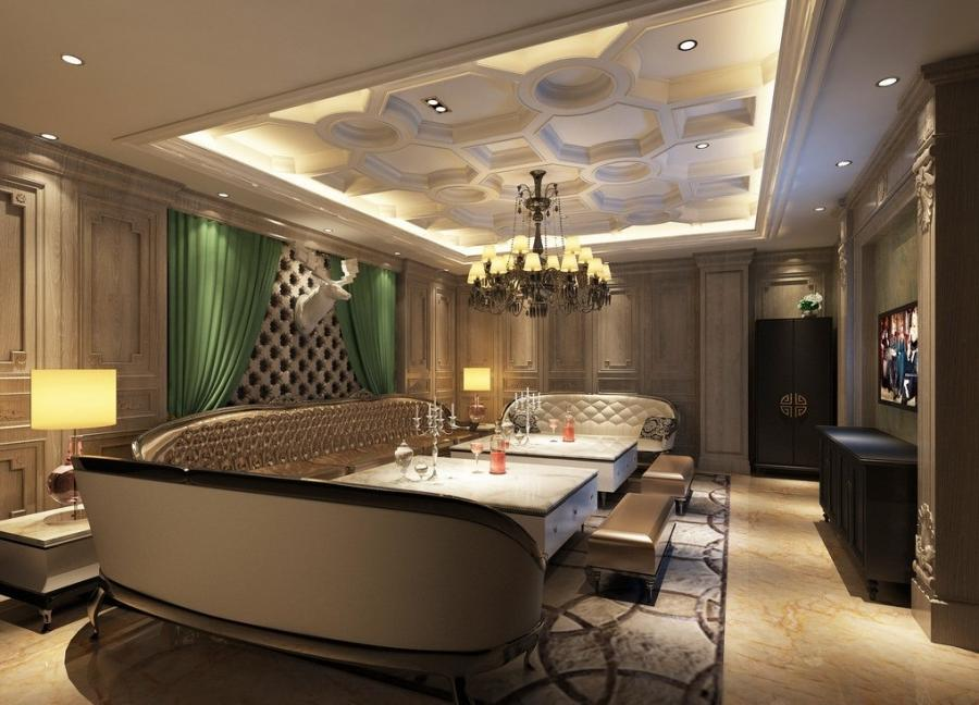 contemporary false ceiling for living room interior with design...