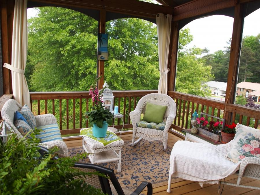 screened in porch decorating ideas and photos