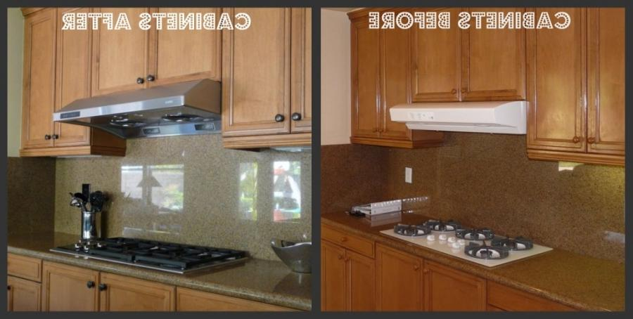 photos of before and after refinished kitchen cabinets how to refinish kitchen cabinets without stripping