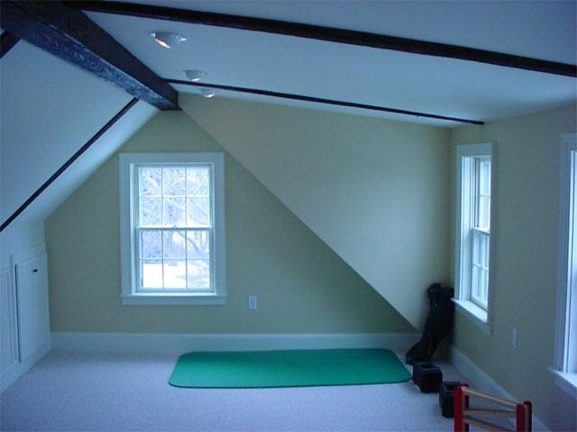 Attic addition to a historical home in Portsmouth NH.
