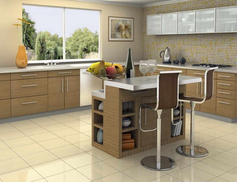 ... Decorating Ideas for Kitchens With White Ceramic Floor ...